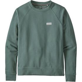 Patagonia Pastel P-6 Label Organic Crew Sweatshirt Women regen green